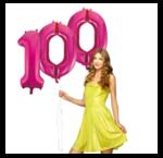Cijfers ballonnen helium gevuld 86 cm