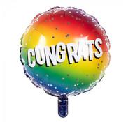 Ronde Folieballon 'Congrats'