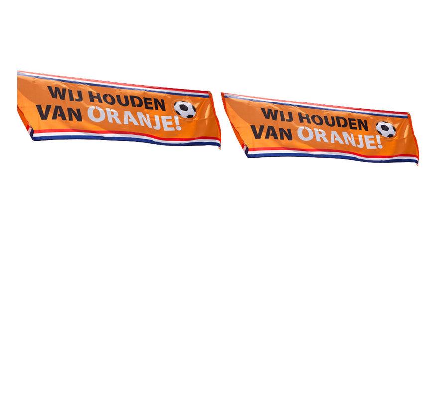 2 EK spandoeken wij houden van oranje
