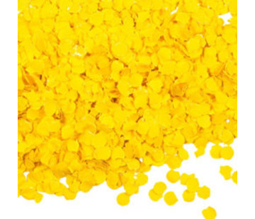 Gele confetti 100 gram