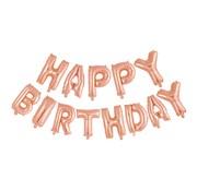 Letter ballon 'Happy Birthday' Rosé Goudkleurig