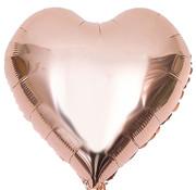 Folieballon hart Rosé Goudkleurig