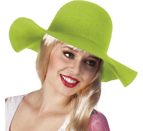 Dames flaphoed lime groen