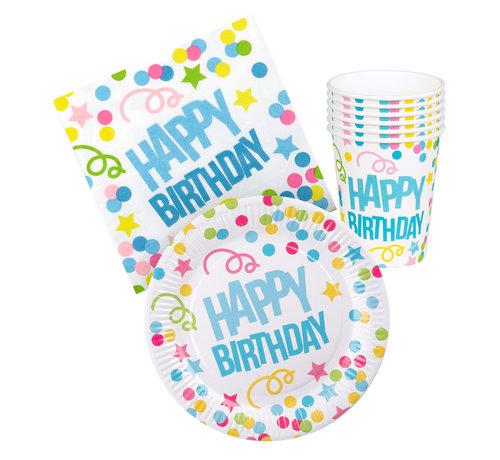 Tafelset 'Happy Birthday'