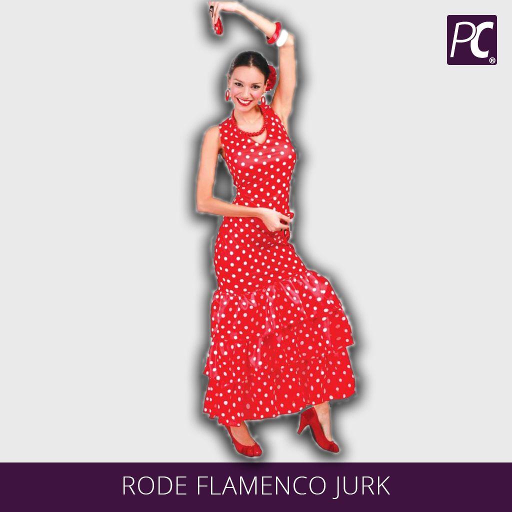 b9e9994e735537 Rode flamenco jurk
