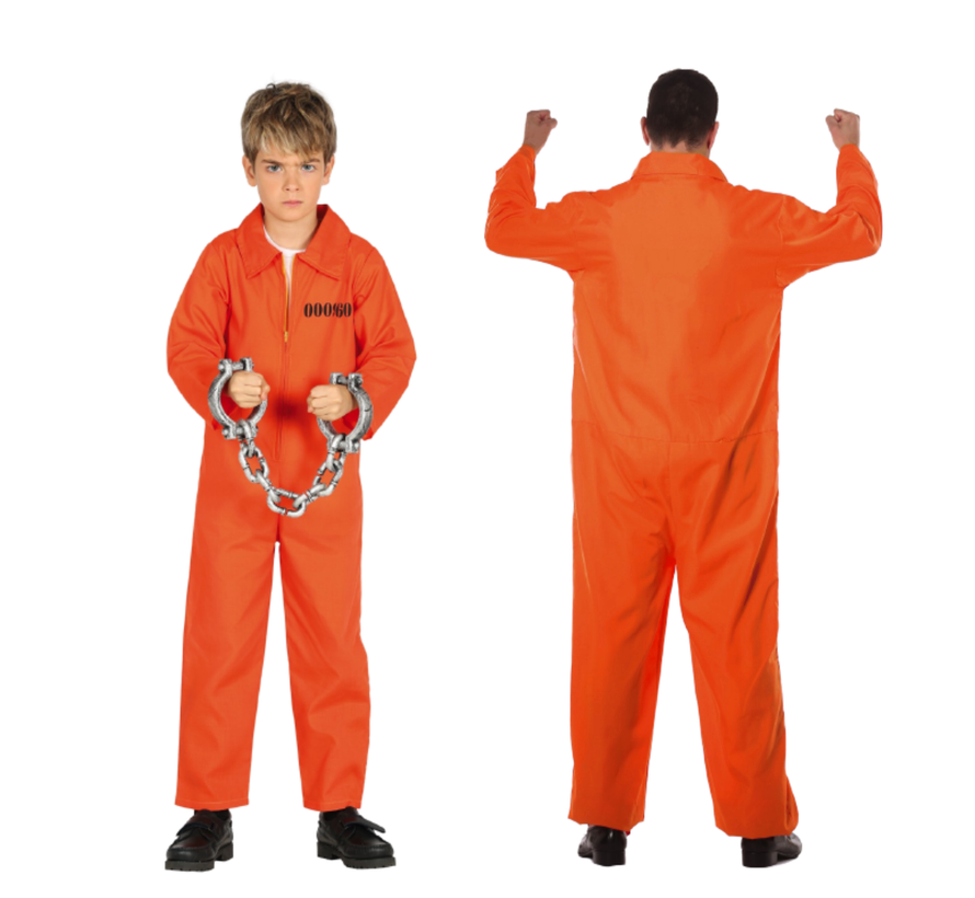 Verkleedpak Gevangene Junior Oranje