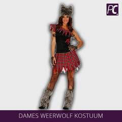 Dames Weerwolf kostuum