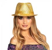 Popstar glitter hoed Goud