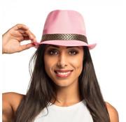Gangster hoed roze