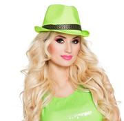 Gangster hoed neon groen