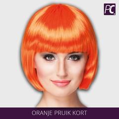 Oranje pruik kort