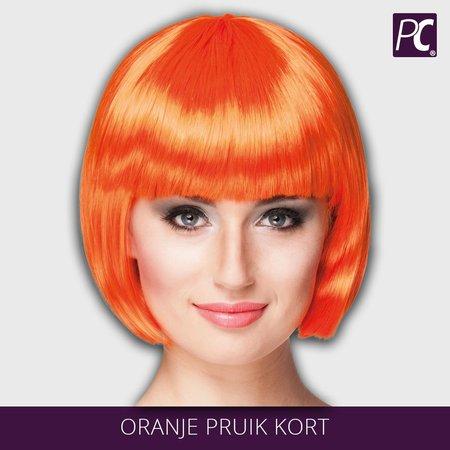 Oranje pruik kort (bobline)