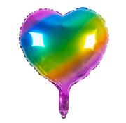 folie ballon hart regenboog leeg