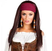 Pruik Piraat met bandana
