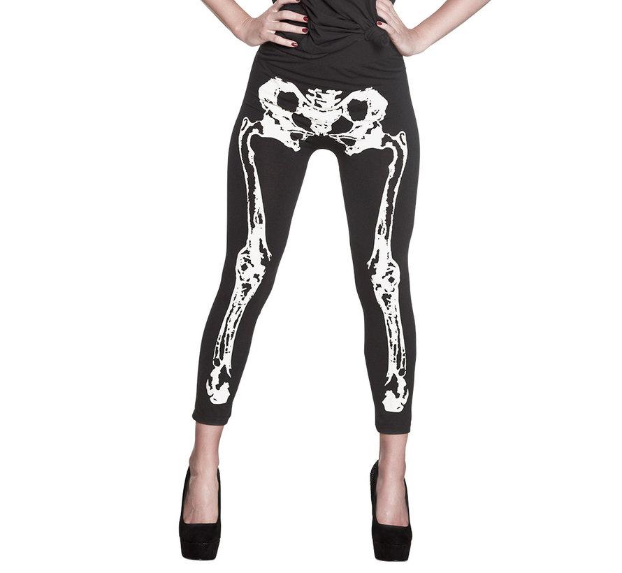 Halloween legging met botten print
