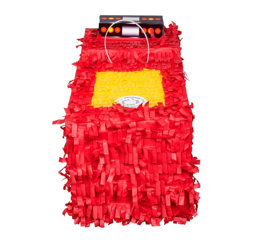 Papieren Brandweer auto piñata