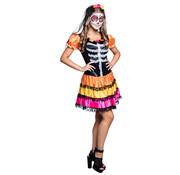 Mexicaans skelet jurkje tiener