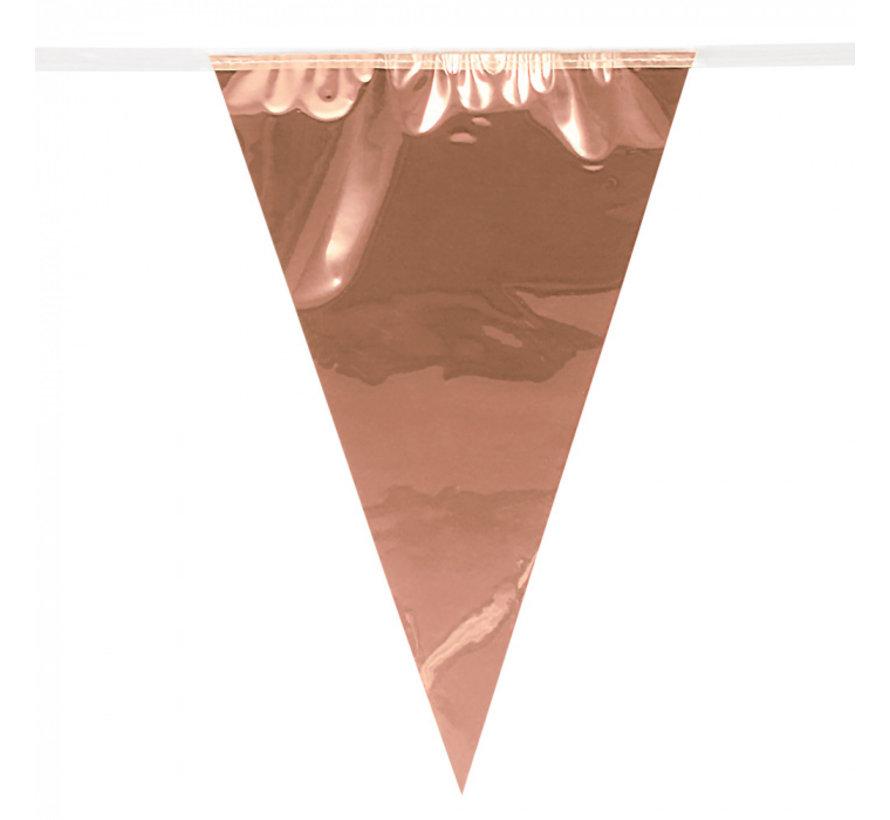 Folie mini vlaggenlijn roségoud slinger