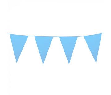 Babyblauwe vlaggenlijn