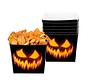 Kartonnen bakjes pompoengezicht Halloween