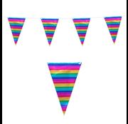 Regenboog folievlaggenlijn