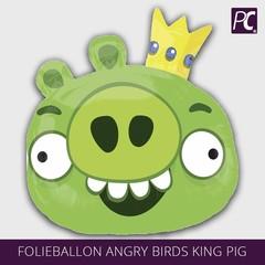 Folieballon Angry birds king pig