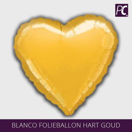 Blanco folieballon hart goud