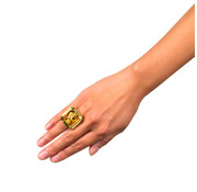 Goudkleurige dollar ring