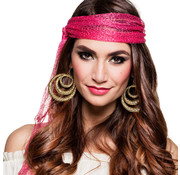 Goudkleurige Gypsy oorbellen