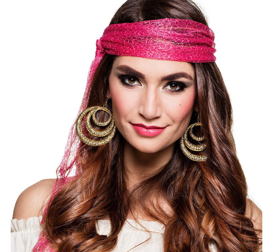 Goedkope goudkleurige  Gypsy oorbellen
