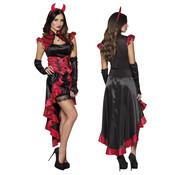 Gothic jurk rood zwart