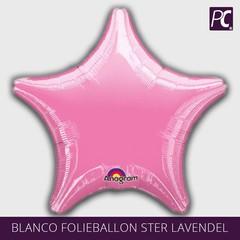 Roze Blanco ster folie ballon