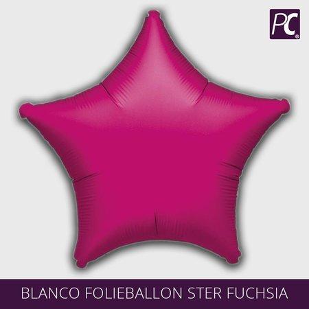 Blanco folie ballon ster fuchsia