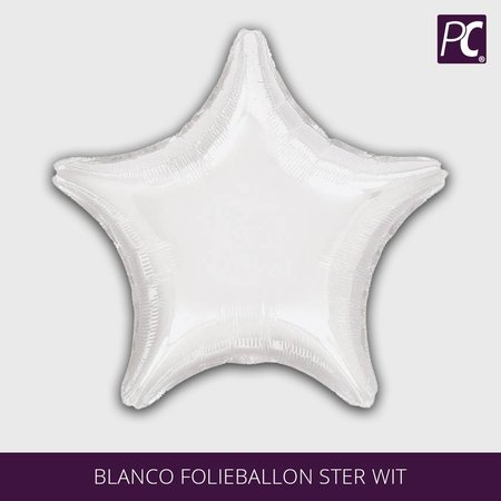 Blanco folieballon ster wit