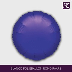 Blanco folieballon rond paars