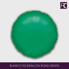 Blanco folieballon rond groen