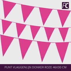 Punt vlaggenlijn donker roze 46x30 cm