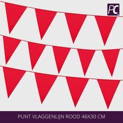 Punt vlaggenlijn rood 46x30 cm