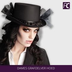 Dames grafdelvers hoed
