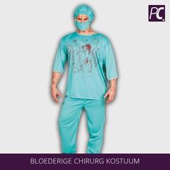 Bloederige chirurg kostuum