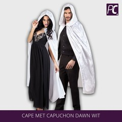 Cape met capuchon Dawn Wit