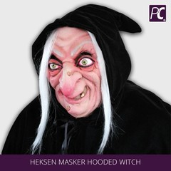 Heksen masker Hooded Witch