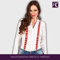 Valentijnsdag Bretels Hartjes