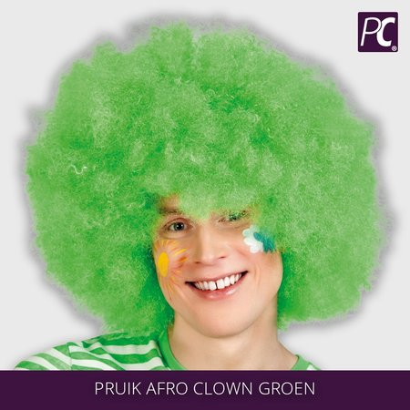 Pruik Afro Clown Groen