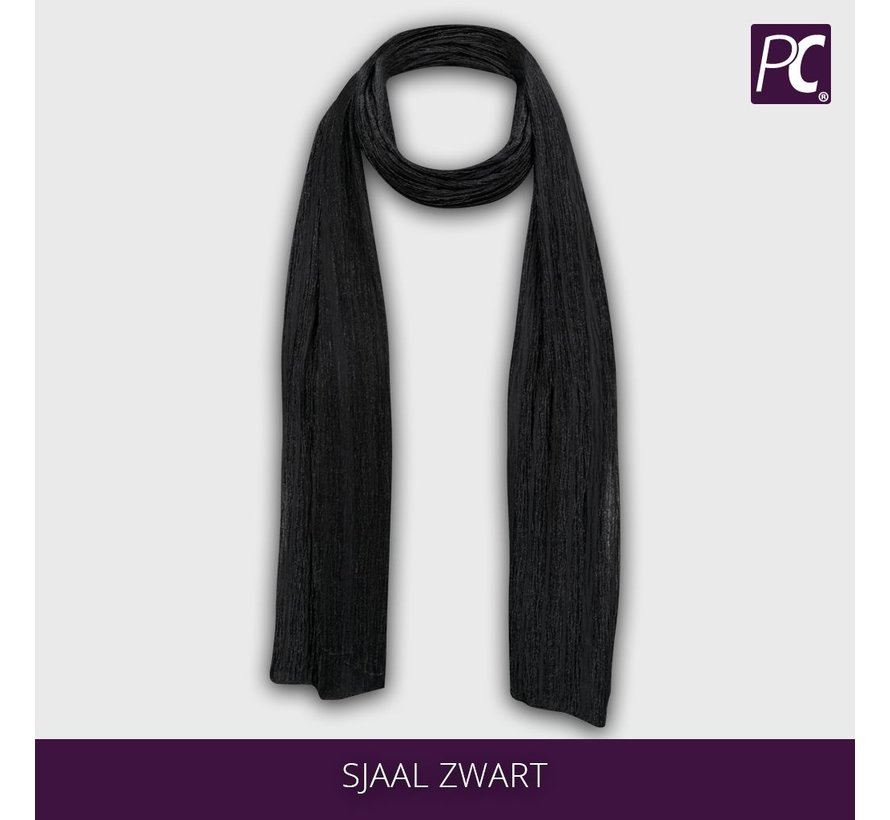 Transparante dames sjaal zwart