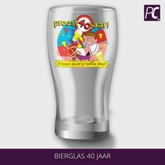 Bierglas 40 jaar
