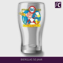 Bierglas 50 jaar