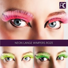 Lange wimpers roze