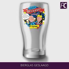 Bierglas geslaagd