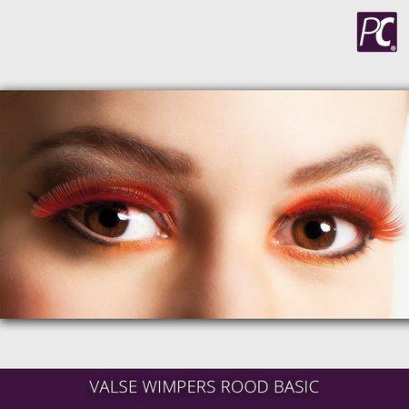 Valse wimpers rood basic